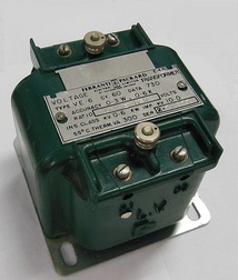 Instrument transformer, with polarity dot and X1 markings on LV side terminal