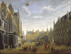 """The Burg in Bruges"", painted c. 1691–1700 by Meunincxhove"