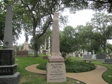 Jim Mattox monument at Texas State Cemetery in Austin, Texas