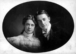 Cohan and his sister Josie in the 1890s