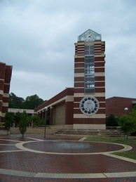 J.Y. Joyner Library clock tower