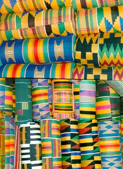 The Ashanti Kente cloth patterns