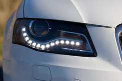 daytime running light LEDs of an automobile