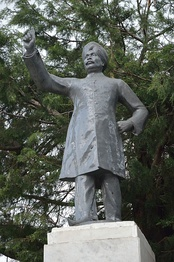 The statue of Rai at Shimla, Himachal Pradesh.