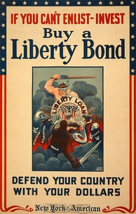 Advertising poster for World War I Liberty Bonds