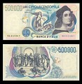 500,000 lire – obverse and reverse – printed in 1997