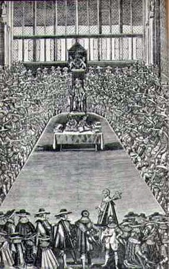 The Long Parliament, which had the Petition of Right formally passed as a public bill in 1641.