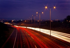 The M60 at Cutler Hill, Failsworth.