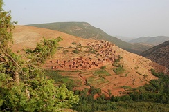 Berber village in the High Atlas mountains of Morocco