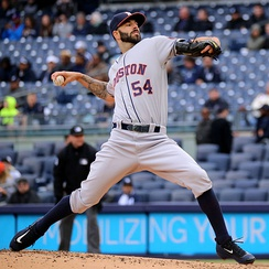 Astros pitcher Mike Fiers
