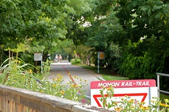 The Monon Trail traverses Indianapolis's north side neighborhoods.