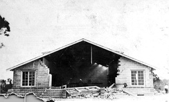 Damage to a church under construction in New Port Richey