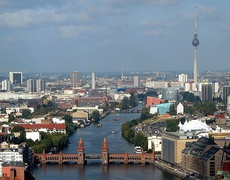 Spree in central Berlin, with Oberbaum Bridge