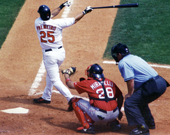 Rafael Palmeiro (batter), one of the MLB players suspended for steroid use[153]