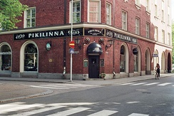 Pub Pikilinna, an Irish-style public house in the Tammela district of the city of Tampere, Finland.
