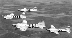 BQ-17 Flying Fortress drones over New Mexico, April 1946