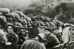 Republican forces during the battle of Irún in 1936