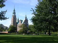 Rosenborg Castle and park in central Copenhagen