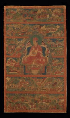 Chodag Yeshe Palzang, the 4th Shamar Rinpoche, 16th-century painting from the Rubin Museum of Art