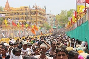 Ujjain Simhastha, held once in every 12 years is a Kumbh Mela and draws millions of devotees