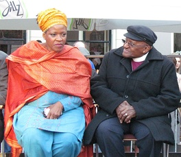 Tutu with his daughter Mpho Andrea in the Netherlands, 2012