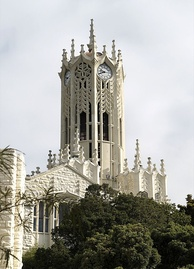 The University of Auckland clock tower building is a 'Category I' historic place, completed in 1926[71]