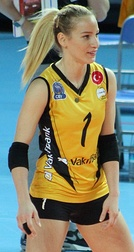 Turkish volleyball player Hatice Gizem Örge