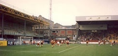 Bradford City against Fulham at Valley Parade during the early 1990s