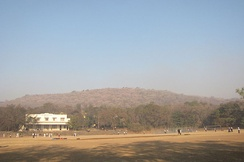 Vetal hill, a prominent hill in Pune. Elevation c. 800 m