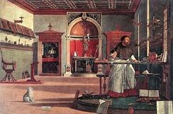 Витторе Карпаччо, «Видение святого Августина» (1502)