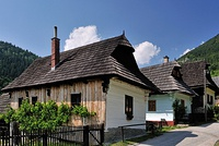 Wooden folk architecture can be seen in the well preserved village of Vlkolínec, a UNESCO World Heritage Site