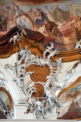 Integrated rococo carving, stucco and fresco at Zwiefalten Abbey (1739–45)