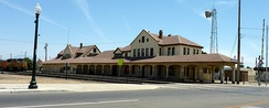 The old Southern Pacific Railroad station, currently the crew change depot for north and southbound Union Pacific Railroad trains. Old Town Kern is located primarily around Baker Street, near the former town of Sumner. It competed to be the commercial downtown, eventually losing to the present location west of Old Town.