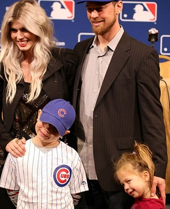 Zobrist and his family in 2015