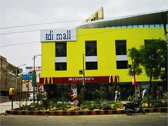 A shopping mall situated on the Fatehabad Road
