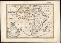 """Southern Ocean"" as an alternative name for the Aethiopian Ocean in a 1700 map of Africa"