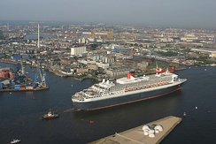 Queen Mary 2 at the Port of Hamburg
