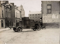 A National Army Peerless Armoured Car in Passage West, August 1922