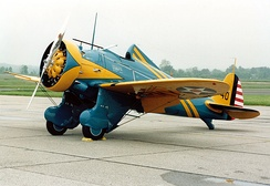 P-26A replica on display at the National Museum of the United States Air Force.