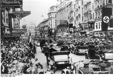 Austrians greeting the Nazis during the Anschluss in Vienna