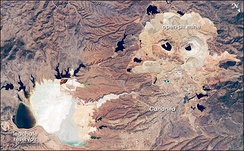 Aerial view of mines in Cananea