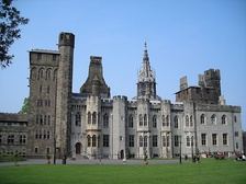 Cardiff Castle (Holland's work is the pale coloured stone)