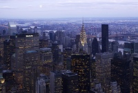 Midtown Manhattan in New York City, the largest central business district in the world.