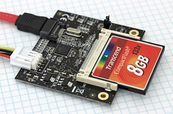 CompactFlash to SATA adapter with a card inserted