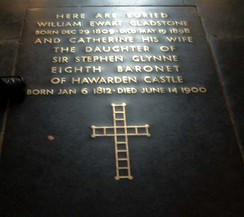 Gladstone's grave in Westminster Abbey