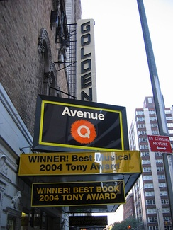 Avenue Q at the John Golden Theatre on Broadway