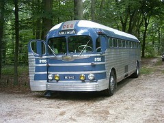 A 1948 PD-3751 bus built for Greyhound Lines.