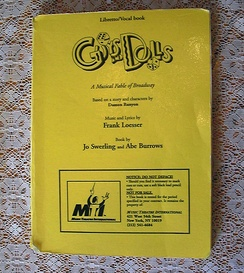 Guys and Dolls, Libretto and Vocal book, printed by Music Theatre International, 1978.