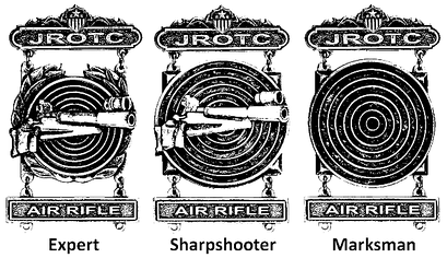 Junior Reserve Officers' Training Corps Rifle Qualification Badges
