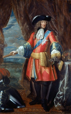 James portrayed c. 1685 in his role as head of the army, wearing a general officer's state coat